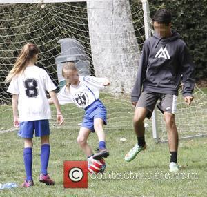 Helene Samuel - Heidi Klum and her boyfriend Vito Schnabel take Klum's kids Henry, Johan and Helene Samuel to soccer...