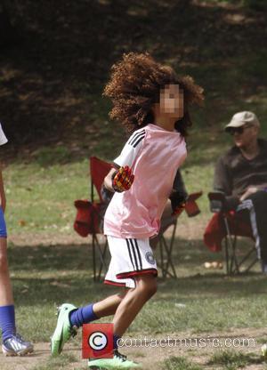 Johan Samuel - Heidi Klum and her boyfriend Vito Schnabel take Klum's kids Henry, Johan and Helene Samuel to soccer...