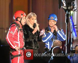 Anthony McPartlin, Declan Donnelly, Ant & Dec and Ashley Roberts - Ant & Dec film 'Saturday Night Takeaway' outside ITV...