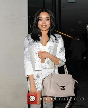 Dionne Bromfield - London Fashion Week A/W 2015 - PPQ - Arrivals at London Fashion Week - London, United Kingdom...