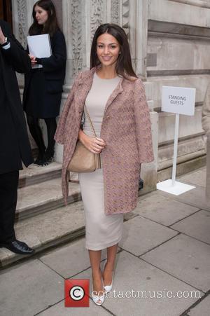 Michelle Keegan - London Fashion Week Autumn/Winter 2015 - Julien Macdonald - Outside Arrivals at London Fashion Week - London,...