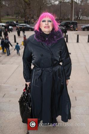 Zandra Rhodes - London Fashion Week Autumn/Winter 2015 - Julien Macdonald - Outside Arrivals at London Fashion Week - London,...