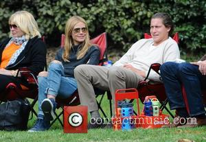 Heidi Klum and Vito Schnabel - Heidi Klum and her boyfriend Vito Schnabel take Klum's kids Henry, Johan and Helene...
