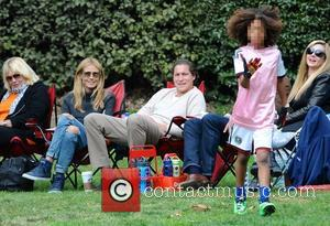 Heidi Klum, Vito Schnabel and Johan Samuel - Heidi Klum and her boyfriend Vito Schnabel take Klum's kids Henry, Johan...