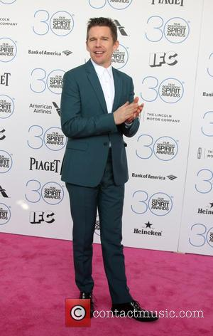 Ethan Hawke - 30th Film Independent Spirit Awards - Arrivals at Tent on the beach, Independent Spirit Awards - Santa...