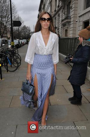 Amber Le Bon - London Fashion Week Autumn/Winter 2015 - Temperley London - Outside Arrivals at London Fashion Week -...