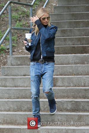 Heidi Klum - Heidi Klum and her boyfriend Vito Schnabel take Klum's kids Henry, Johan and Helene Samuel to soccer...