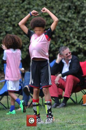 Henry Samuel - Heidi Klum and her boyfriend Vito Schnabel take Klum's kids Henry, Johan and Helene Samuel to soccer...