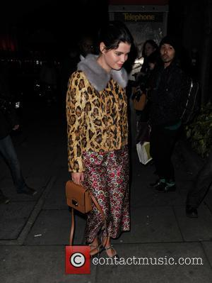 Pixie Geldof - London Fashion Week Autumn Winter 2015 - Henry Holland - Arrivals and Departures at London Fashion Week...