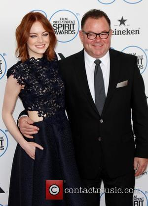 Emma Stone and her father Jeff Stone - 2015 Film Independent Spirit Awards - Arrivals at Independent Spirit Awards -...