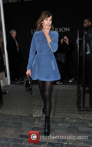 Alexa Chung - London Fashion Week Autumn/Winter 2015 - J.W Anderson - Arrivals and Departures at London Fashion Week -...