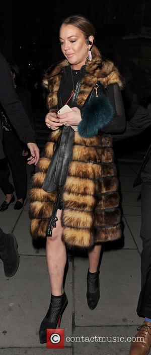 Lindsay Lohan - LFW a/w 2015 - Gareth Pugh - Arrivals - London, United Kingdom - Saturday 21st February 2015