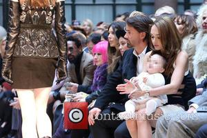 Tamara Ecclestone and baby Sophia - London Fashion Week Autumn/Winter 2015 - Julien Macdonald - Front Row at London Fashion...