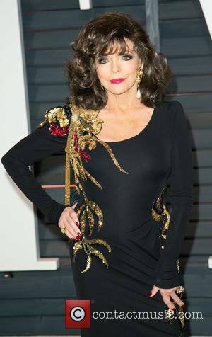 Joan Collins - A host of stars were photographed as they attended the Vanity Fair Oscar Party which was held...