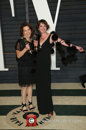 Dana Perry and Ellen Goosenberg Kent - A host of stars were photographed as they attended the Vanity Fair Oscar...