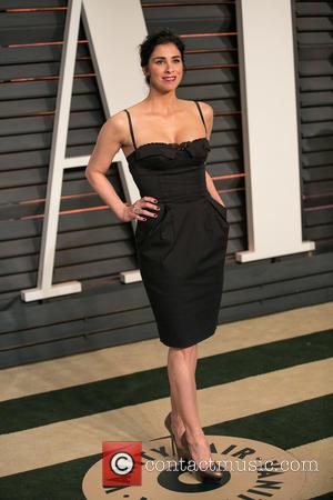 Sarah Silverman - A host of stars were photographed as they attended the Vanity Fair Oscar Party which was held...