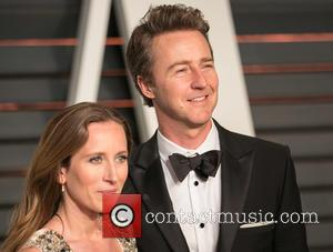 Shauna Robertson and Edward Norton - Celebrities attend 2015 Vanity Fair Oscar Party at Wallis Annenberg Center for the Performing...