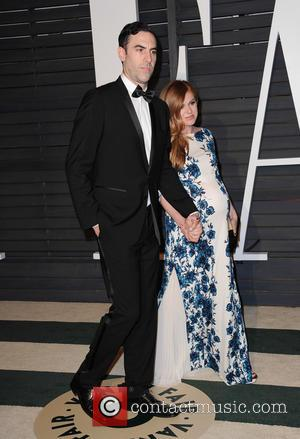 Sacha Baron Cohen and Isla Fisher - The 87th Annual Oscars - Vanity Fair Oscar Party at Wallis Annenberg Center...
