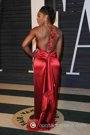 Serena Williams - The 87th Annual Oscars - Vanity Fair Oscar Party at Wallis Annenberg Center for the Performing Arts...