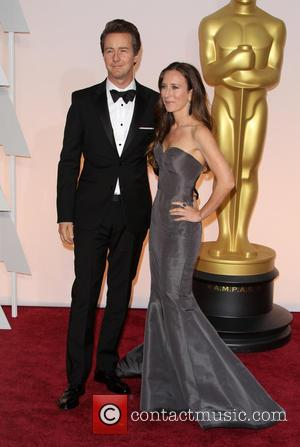 Edward Norton and Shauna Robertson - Hollywood's biggest stars were snapped on the red carpet as they arrived for the...