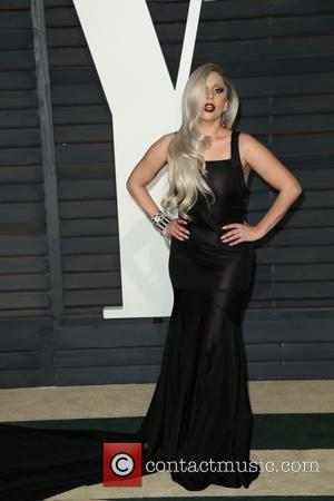 Lady Gaga - Celebrities attend 2015 Vanity Fair Oscar Party at Wallis Annenberg Center for the Performing Arts with City...