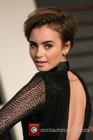 Lily Collins - Celebrities attend 2015 Vanity Fair Oscar Party at Wallis Annenberg Center for the Performing Arts with City...