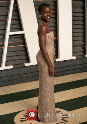 Lupita Nyong'o - Celebrities attend 2015 Vanity Fair Oscar Party at Wallis Annenberg Center for the Performing Arts with City...