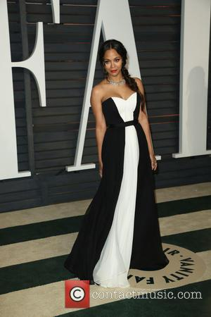 Zoe Saldana - Celebrities attend 2015 Vanity Fair Oscar Party at Wallis Annenberg Center for the Performing Arts with City...