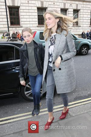 Donna Air and Freya Air Aspinall - London Fashion Week Autumn/Winter 2015 Issa - Outside Arrivals at London Fashion Week...
