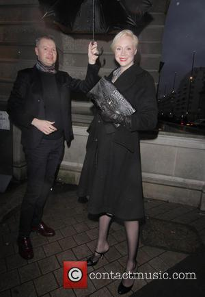 Gwendoline Christie - London Fashion Week Autumn/Winter 2015 - Vivienne Westwood - Outside Arrivals at London Fashion Week - London,...