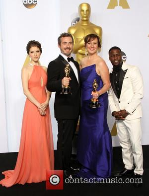 Anna Kendrick, Patrick Osborne, Kristina Reed and Kevin Hart - 87th Annual Academy Awards held at The Dolby Theatre -...
