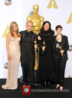 Jennifer Aniston, Dirk Wilutsky, Laura Poitras and Mathilde Bonnefoy