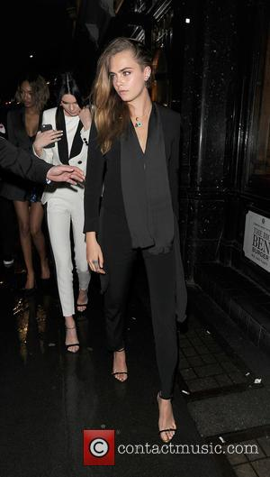 Cara Delevingne - Supermodels young and old gathered at Mr Chow restaurant for a late night meal and party! Cara...