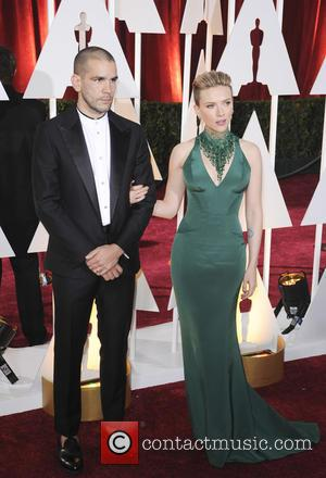 Scarlett Johansson and Romain Dauriac - Hollywood's biggest stars were snapped on the red carpet as they arrived for the...