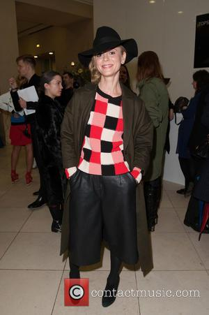 Emilia Fox - LFW a/w 2015: Topshop Unique - catwalk show held at the Tate Britain. - London, United Kingdom...