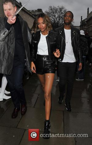 Jourdan Dunn - Topshop Unique - Outside Arrivals - London, United Kingdom - Sunday 22nd February 2015