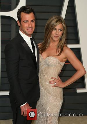 Justin Theroux and Jennifer Aniston - The 87th Annual Oscars - Vanity Fair Oscar Party at Wallis Annenberg Center for...