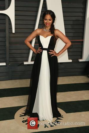 Zoe Saldana - The 87th Annual Oscars - Vanity Fair Oscar Party at Wallis Annenberg Center for the Performing Arts...