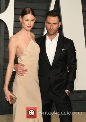 Adam Levine Shares Topless Snap Of Pregnant Wife Behati