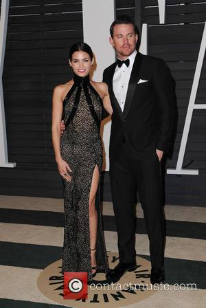 Channing Tatum and Jenna Dewan - The 87th Annual Oscars - Vanity Fair Oscar Party at Wallis Annenberg Center for...
