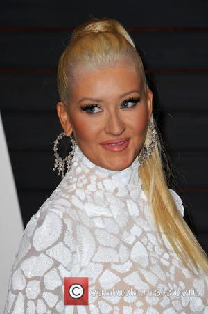 Christina Aguilera - The 87th Annual Oscars - Vanity Fair Oscar Party at Wallis Annenberg Center for the Performing Arts...