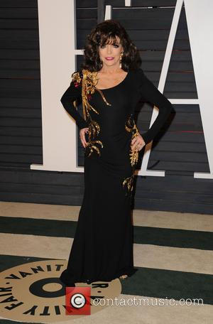 Joan Collins - The 87th Annual Oscars - Vanity Fair Oscar Party at Wallis Annenberg Center for the Performing Arts...