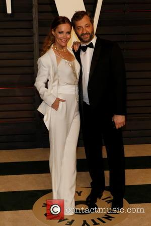 Leslie Mann and director Judd Apatow - A host of stars were photographed as they attended the Vanity Fair Oscar...