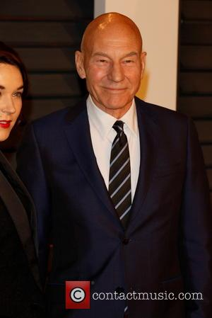 Patrick Stewart and Sunny Ozell - A host of stars were photographed as they attended the Vanity Fair Oscar Party...