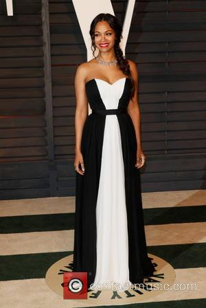 Zoe Saldana - 87th Annual Oscars - Vanity Fair Oscar Party at Oscars - Beverly Hills, California, United States -...