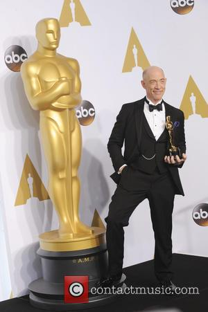 J.K. Simmons - Shots of a variety of stars in the press room at Hollywood's biggest night, the 87th Annual...