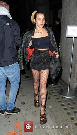 Alice Dellal - London Fashion Week - Giles - Outside Arrivals at London Fashion Week - London, United Kingdom -...