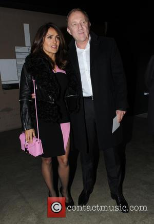 Salma Hayek - Celebrity Sightings at London Fashion Week  Christopher Kane show at London Fashion Week - London, United...
