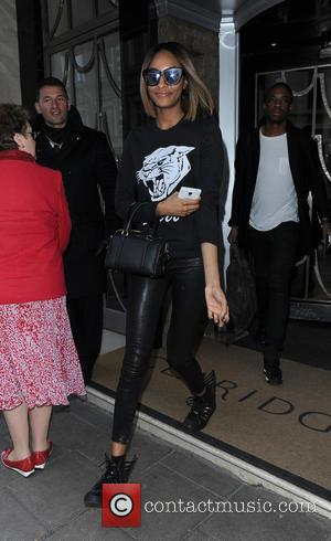 Jourdan Dunn - Celebrities leaving Claridges Hotel - London, United Kingdom - Monday 23rd February 2015