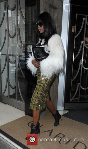 Naomi Campbell - Celebrities leaving Claridges Hotel - London, United Kingdom - Monday 23rd February 2015
